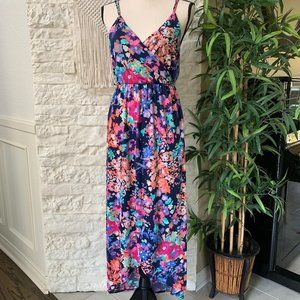 Colorful Floral Sleeveless Maxi Dress